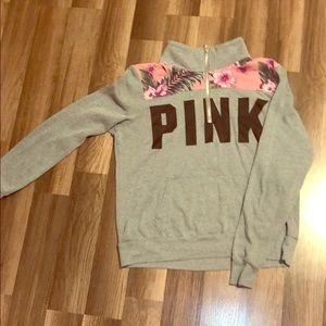 Grey 1/4 zip from PINK
